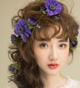 23妆面+森系鲜花造型一