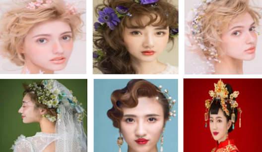 复古田园鲜花全套装新娘妆造型课程