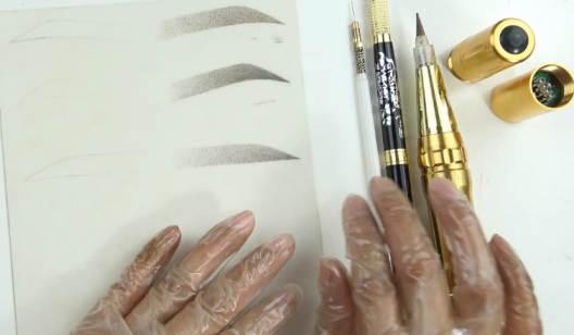 轻(新)氧雾眉操作练习课(산모눈썹조작연습수업)-韩式半永久纹绣课程